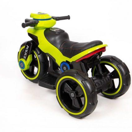 Электромотоцикл Y-Maxi YM 198 Police желтый (кресло кожа, амортизация, подсветка, музыка, скорость 6-7 км\ч)