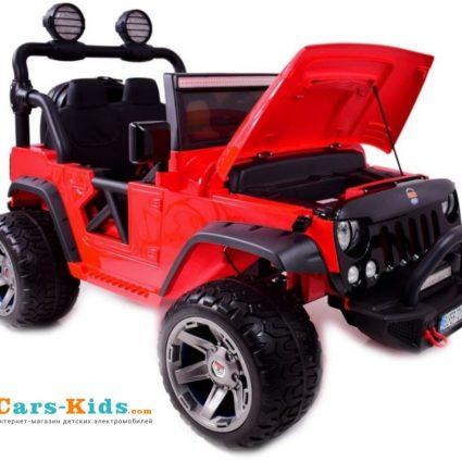 Электромобиль Jeep Wrangler Red 2WD - SX1718-S (кресло кожа , колеса резина, пульт, музыка)